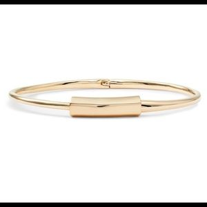 All Saints gold hinged bangle bracelet